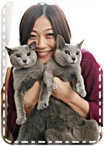 久保田智子と猫