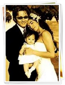 石井竜也と奥様と娘