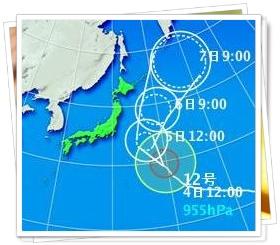 2006年9月の台風