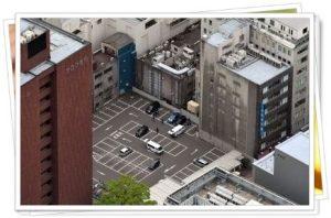 福岡現金強奪の駐車場