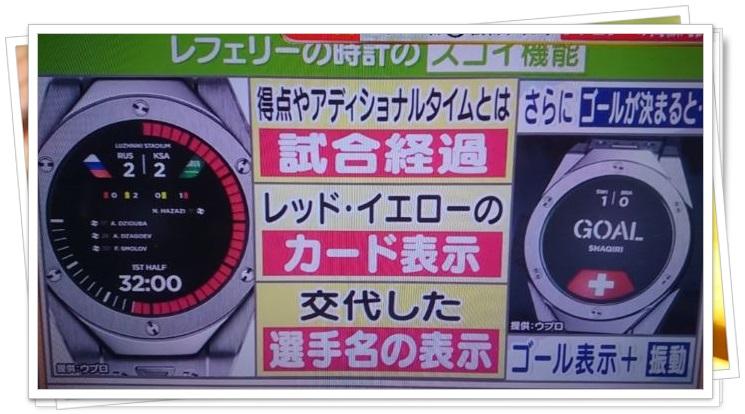 ロシアWFレフェリーの腕時計1