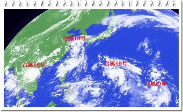 2018年台風の様子