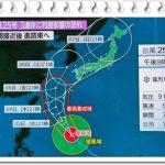 台風25号(2018)の名古屋上陸は何日で時間はいつ頃?進路や強さも!