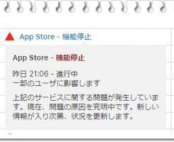 AppStore障害