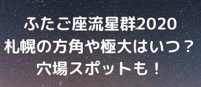 ふたご座流星群札幌
