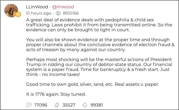 Linwood氏のメッセージ