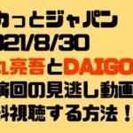 スカっとジャパン2021/8/30松丸亮吾とDAIGO出演回の見逃し動画を無料視聴する方法!