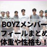THE BOYZメンバーのプロフィールまとめ!身長体重や性格も!